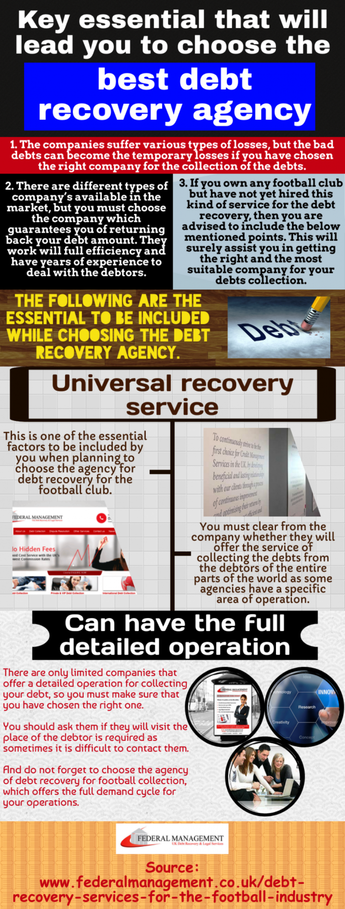Hire the debt recovery company to run your football club smoothly