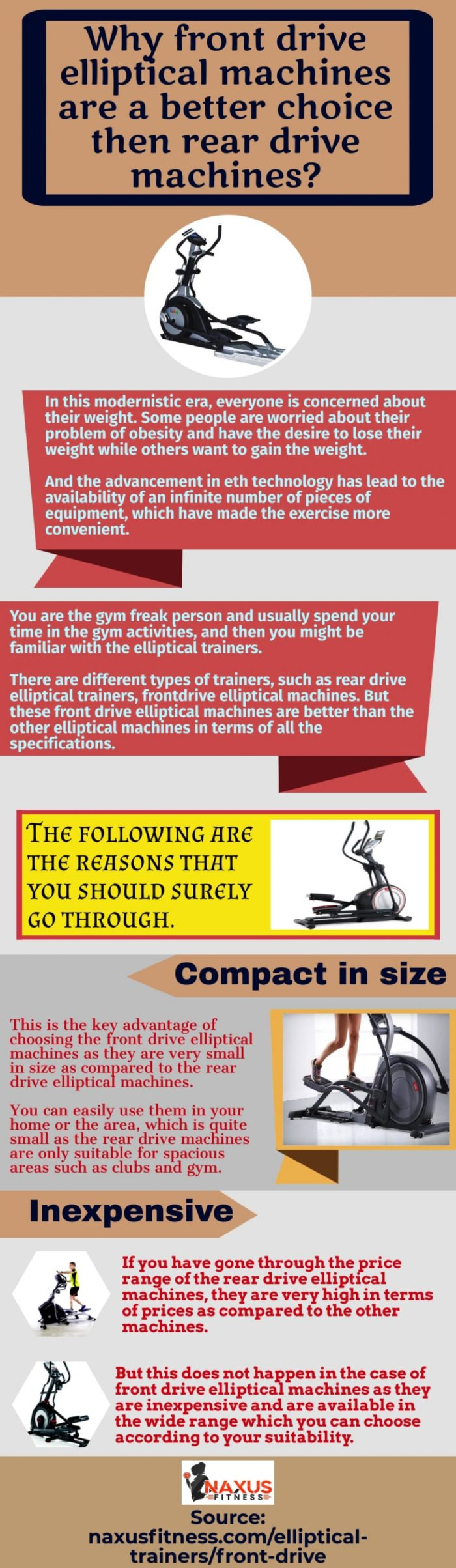 Front drive elliptical trainers are the best kind of trainers that you can choose for your exercise