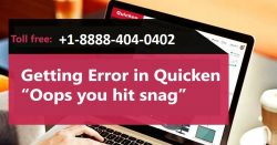 "Getting Error in Quicken ""Oops you hit a snag""?"