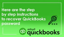 Here are the step by step instructions to recover QuickBooks password
