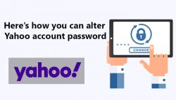 Here's how you can alter yahoo account password