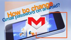 How to change Gmail password on android?