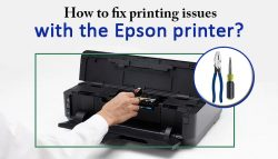 How to fix printing issues with the Epson printer?
