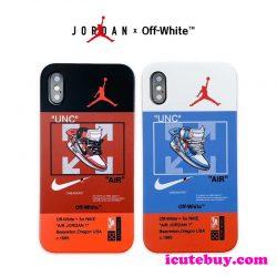 Air Jordan x Off White コラボ iPhone11 Pro/iPhone11 ケース 芸能人の定番 エアジョーダン x オフホ ...