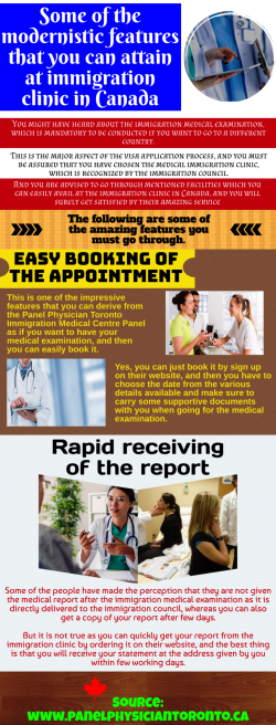 Important Information About immigration Medical centre Panel