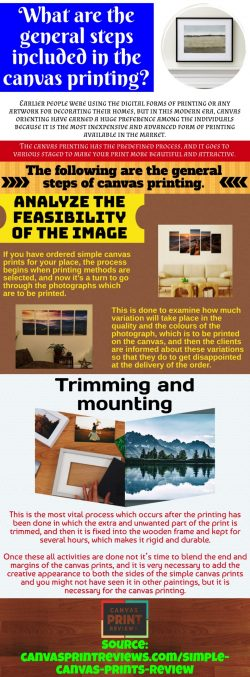Simplest ways to get canvas prints to hang on your wall
