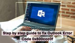 Step by step guide to fix Outlook Error Code 0x800ccc0f