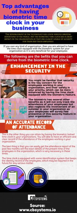 Advantages of the biometric clock technology