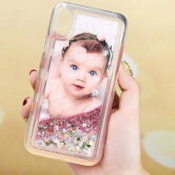 Personalisierter Glitter-Treibsand iPhone Handyhülle