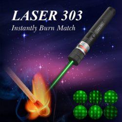 HTPOW Shop Green Laser Pointer 532nm Visible Beam Light Burns