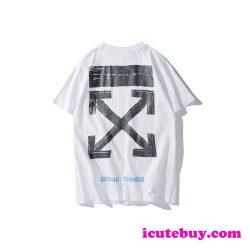 オフホワイト Tシャツ Off-White Seeing Things 半袖tシャツ 矢印 バックプリント OFF-WHITE メンズ ic ...