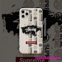 シュプリーム ステューシー コラボ iPhone11 Proケース STUSSY SUPREME コラボ iPhoneXSケース Stussy  ...