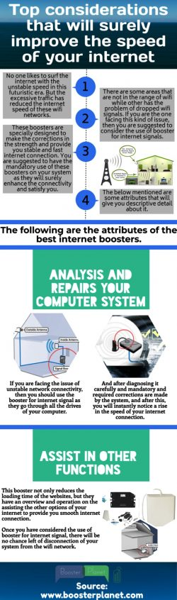 Easy to operate the internet booster for your service