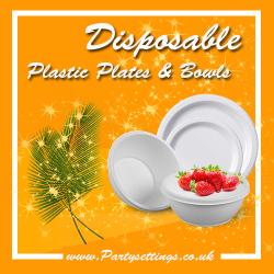 Clear Plastic Disposable Plates & Bowls