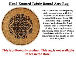 Shop Hand-Knotted Tabriz Round Area Rug
