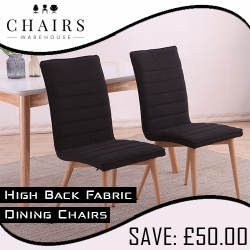 High Back Fabric Dining Chairs