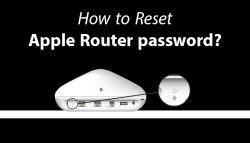 How to Reset Apple Router password?