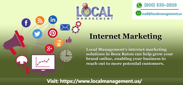 Internet Marketing in Boca Raton   Local Management