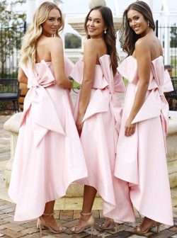 Schöne Brautjungfernkleider Rosa Kurz | Kleider für Brautjungfern