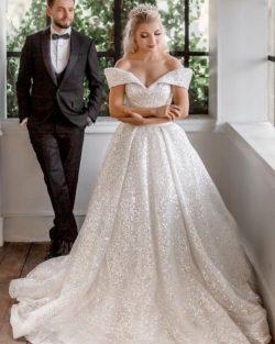 Luxus Hochzeitskleider mit Glitzer | Brautkleider A Linie online