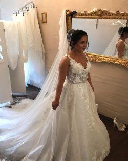 Designer Brautkleider A linie | Brautmoden mit Spitze
