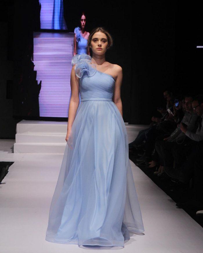 Schlichte Abendkleider Lang Günstig   Abendmoden Blau Online