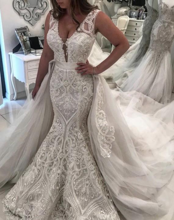 Designer Hochzeitskleider A Linie Mit Spitze | Brautmoden Günstig Online