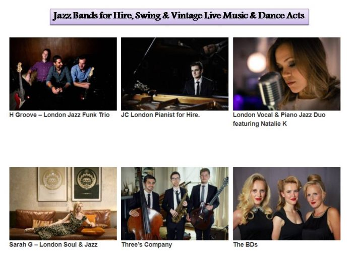 Jazz Bands for Hire, Swing & Vintage Live Music & Dance Acts
