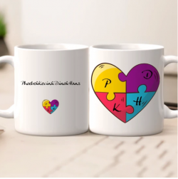 Personalized Name Best Friends Mug – Name Jigsaw