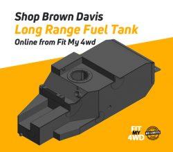 Shop Brown Davis Long Range Fuel Tank Online from Fit My 4wd