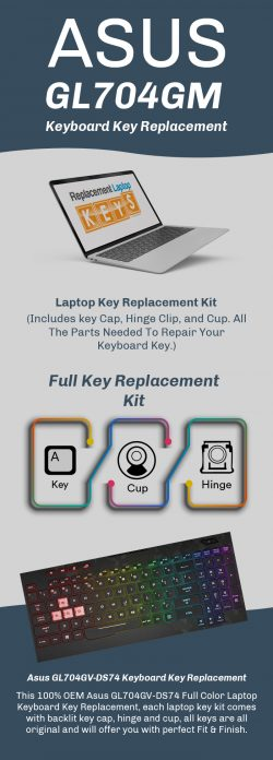 Shop Top-Quality Asus GL704GM Laptop Replacement Keys Online from Replacement Laptop Keys