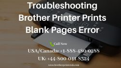 Call Us To Fix Brother Printer Prints Blank Pages Issue – +1 888-480-0288