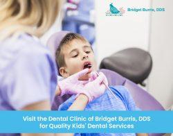 Visit the Dental Clinic of Bridget Burris, DDS for Quality Kids' Dental Services