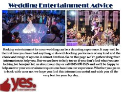 Wedding Entertainment | Wedding Ideas