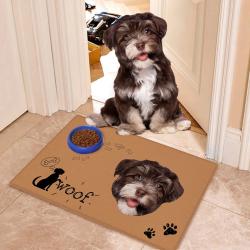Custom Indoor & Outdoor Pet Doormat-Welcome Door mat With Your Pet's Photo And Name