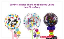 Buy Pre-inflated Thank You Balloons Online from BloonAway