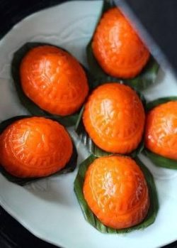 馬鈴薯紅龜糕(Potato Ang Ku Kuih)