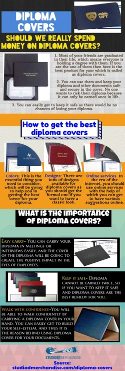 Important Information About Diploma covers