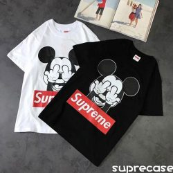 Supreme ミッキーコラボ Tシャツ ディズニー ミッキー tシャツ 半袖