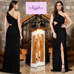 Eva Secret Long Black Evening Dress