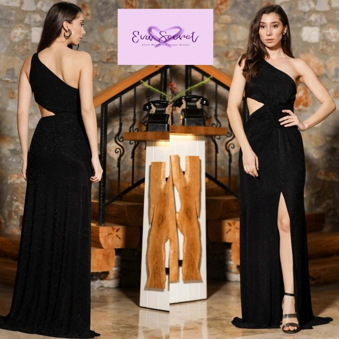 Eva Secret Long Black Evening Dress