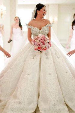 Luxus Brautkleider Spitze | Brautmoden Hochzeitskleider A linie Online