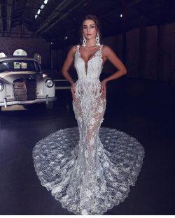 Luxus Brautkleider Meerjungfrau | Spitze Brautmoden Hochzeitskleider