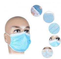 Mundmasken 50 Stück Einweg OP-Maske Gesichtsmaske 3-lagig Mundschutz Staubschutz