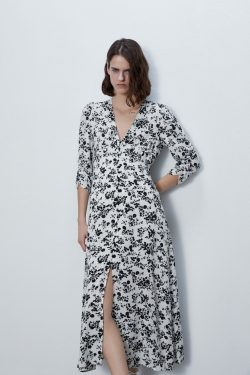 PRINTED MIDI DRESS | ZARA Australia