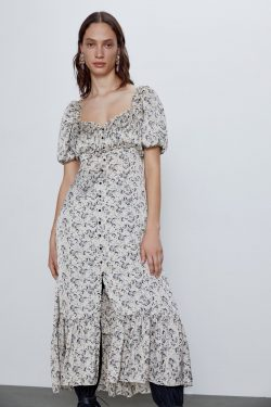 PRINTED SATIN DRESS | ZARA Australia