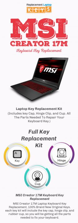 Shop Quality MSI Creator 17M Keyboard Keys from Replacement Laptop Keys