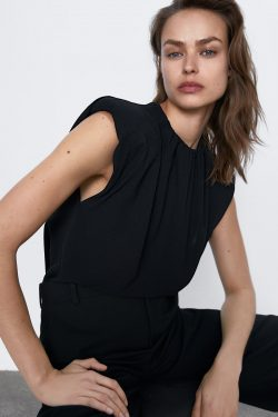 TOP WITH SHOULDER PADS | ZARA Australia