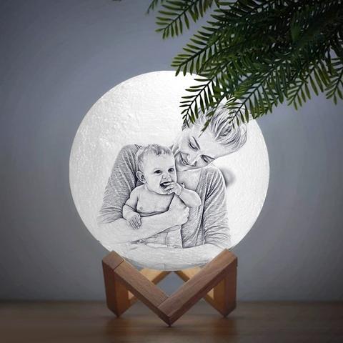 Custom Photo Moon Lamp