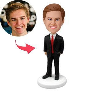 Male Executive In Power Suit Custom Bobblehead